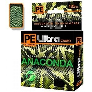 Шнур Aqua PE Ultra Anaconda Camo jungle 135м 0,25/16,1кг
